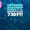Októberi Moziünnep 2015-ben is!