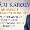 Nyári Károly Budapesti Karácsonyi koncertje 2019-ben a Budapesti Kongresszusi Központban - Jegyek