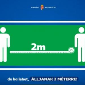 Tartsunk 1 vagy ha lehet 2 méter távolságot! Ezt kéri a kormány!VIDEÓ ITT!
