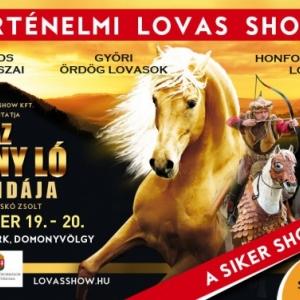 Az Arany ló legendája lovas show 2020-ban a Lázár Lovas Parkban - Jegyek itt!