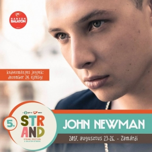 John Newman koncert 2017-ben a Strand Fesztiválon - Jegyek itt!
