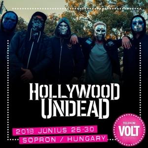 Hollywood Undead koncert 2018-ban a VOLT Fesztiválon Sopronban - Jegyek itt!
