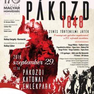 INGYEN lesz látható a Pákozd 1848 zenés történelmi játék!