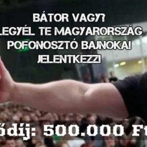 Pofozó Bajnokságot rendeznek Budapesten! INGYENES lesz!