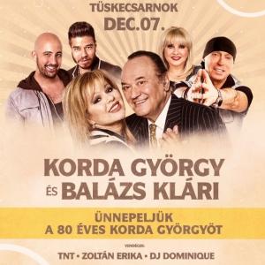 Korda György és Balázs Klári koncert 2019-ben Budapesten a Tüskecsarnokban - Jegyek itt!